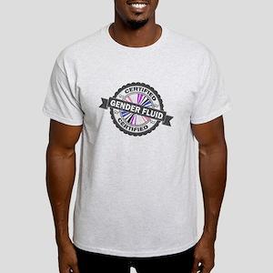 Certified Gender Fluid Stamp Light T-Shirt