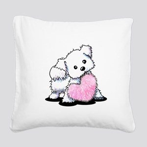 Heart & Soul Puppy Square Canvas Pillow