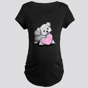 Heart & Soul Puppy Maternity Dark T-Shirt