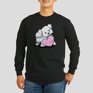 Heart & Soul Puppy Long Sleeve Dark T-Shirt