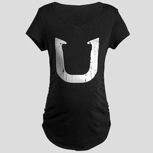 Horseshoe Pitching Shoe Maternity T-Shirt