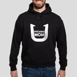 Horseshoe Pitching Mom Hoodie (dark)
