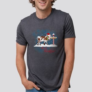 Merry Christmas Cow North Pole T-Shirt