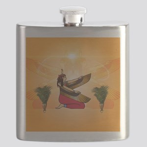 Isis the goddess of Egyptian mythology Flask
