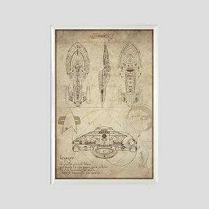 Da Vinci USS Voyager Rectangle Magnet