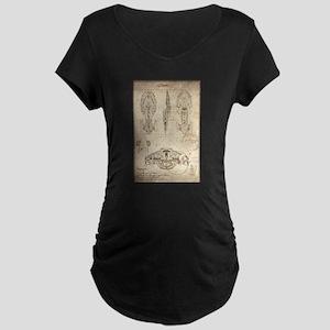 Da Vinci USS Voyager Maternity Dark T-Shirt