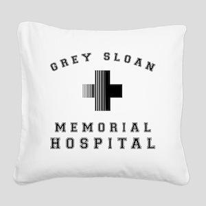 Grey Sloan Memorial Hospital Square Canvas Pillow