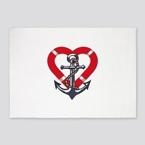 ANCHOR AND PRESERVER 5'x7'Area Rug