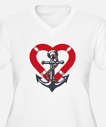 ANCHOR AND PRESERVER Plus Size T-Shirt