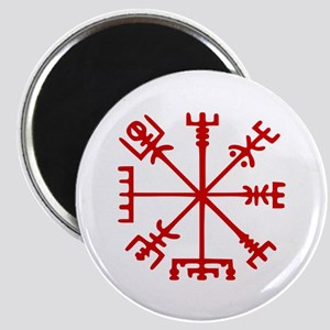 Blood Red Viking Compass : Vegvisir Magnets