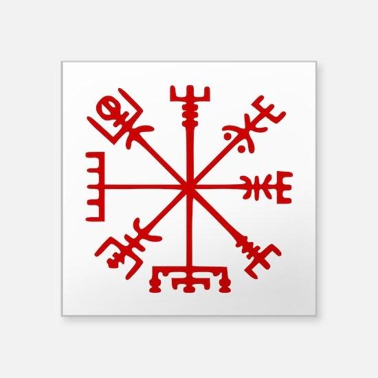 Blood Red Viking Compass : Vegvisir Sticker