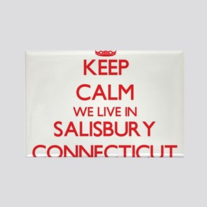 Keep calm we live in Salisbury Connecticut Magnets