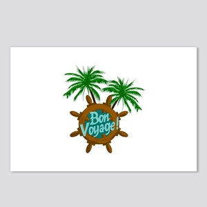 BON VOYAGE PALMS Postcards (Package of 8)