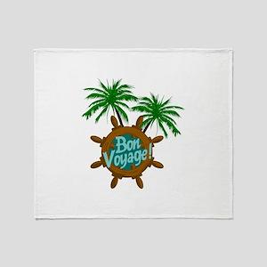 BON VOYAGE PALMS Throw Blanket