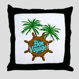BON VOYAGE PALMS Throw Pillow