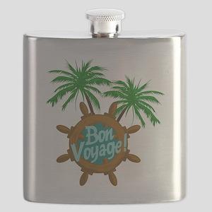 BON VOYAGE PALMS Flask