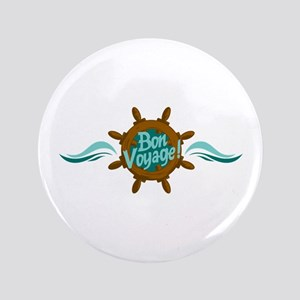 "BON VOYAGE WAVES 3.5"" Button"