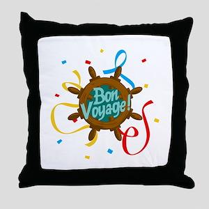 BON VOYAGE CONFETTI Throw Pillow