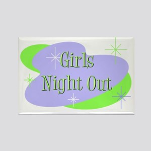 Girls Night Out Rectangle Magnet