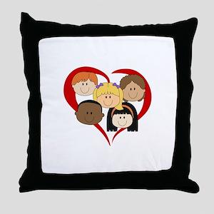 HEART KIDS Throw Pillow