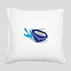 POWERBOAT Square Canvas Pillow