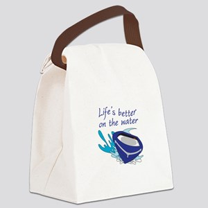 LIFES BETTER ON THE WATER Canvas Lunch Bag