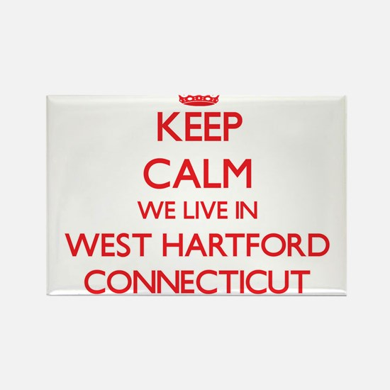 Keep calm we live in West Hartford Connect Magnets