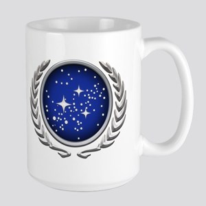 Star Trek UFP silver Large Mug