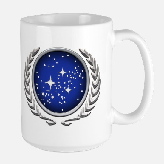 Star Trek UFP silver Large Mug