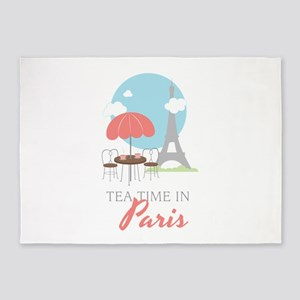 Tea Time in Paris 5'x7'Area Rug