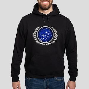 Star Trek UFP silver Hoodie (dark)