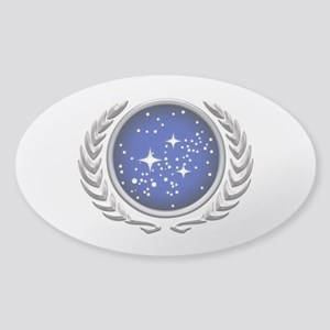Star Trek UFP silver Sticker