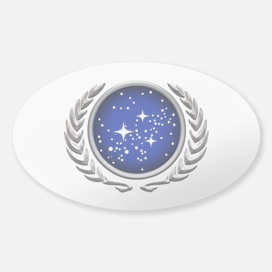 Star Trek UFP silver Decal