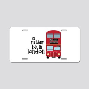 In London Aluminum License Plate