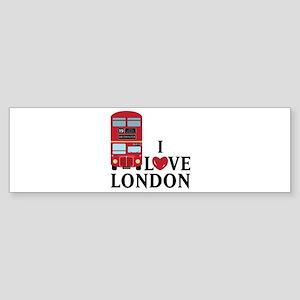 I Love London Bumper Sticker