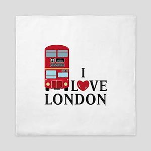 I Love London Queen Duvet