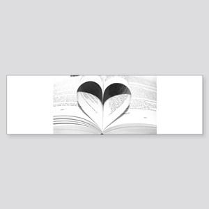 For the Love of Books Bumper Sticker