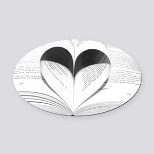 For the Love of Books Oval Car Magnet