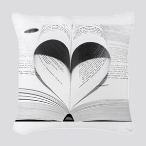 For the Love of Books Woven Throw Pillow