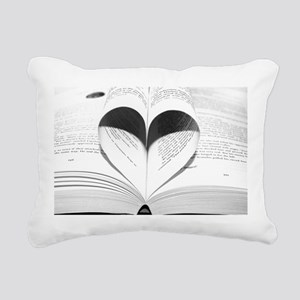 For the Love of Books Rectangular Canvas Pillow
