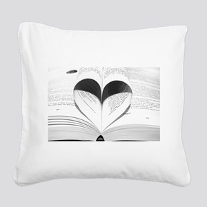 For the Love of Books Square Canvas Pillow