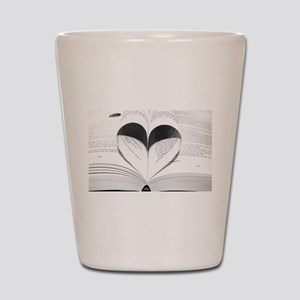 For the Love of Books Shot Glass