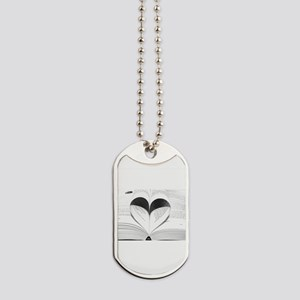 For the Love of Books Dog Tags