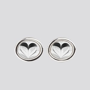 For the Love of Books Oval Cufflinks