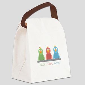 Tweet. Tweet. Tweet Canvas Lunch Bag