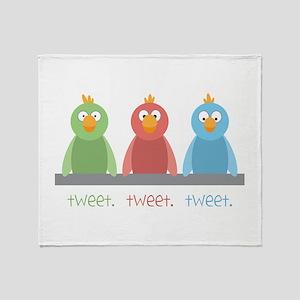 Tweet. Tweet. Tweet Throw Blanket