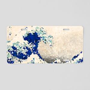 Great Wave Off Kanagawa Hokusai Triangles Aluminum