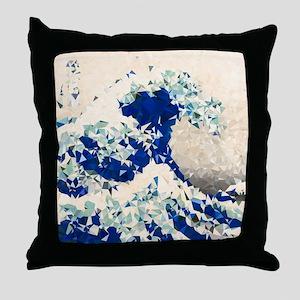 Great Wave Off Kanagawa Hokusai Triangles Throw Pi