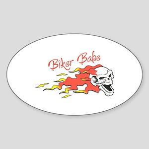BIKER BABE Sticker