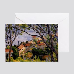 Cezanne - L'Estaque, View through th Greeting Card